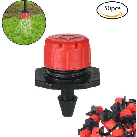 50pcs Adjustable Dripper Micro Sprinker Anti-clogging Emitter Dripper System
