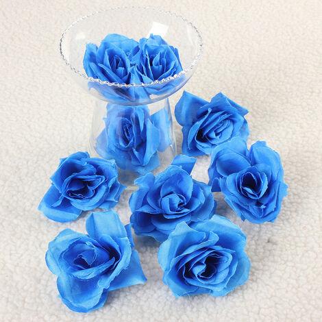 50pcs Fleur Rose Artificielle Simulation Soie Décoration Maison Mariage Fete
