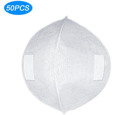 50Pcs Jetable Masque Tapis Anti-Poussiere Masque Filtre Masque Facial Joint Replaceable Pad Bouche Masque Inserer 3 Couches De Protection