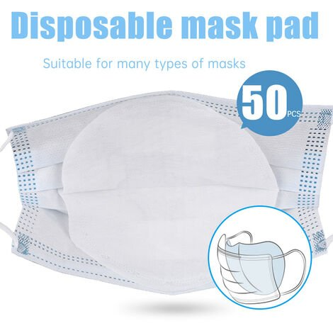 50Pcs Jetable Visage Masques Filtre Pad 3 Couches Filtre Respirante Filtre De Protection Bouche Masque Pad De Rechange Pour Adultes Kid