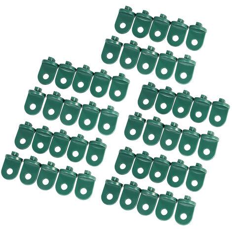 50Pcs / Set Crochets De Suspension En Plastique a Effet De Serre, Vert Fonce