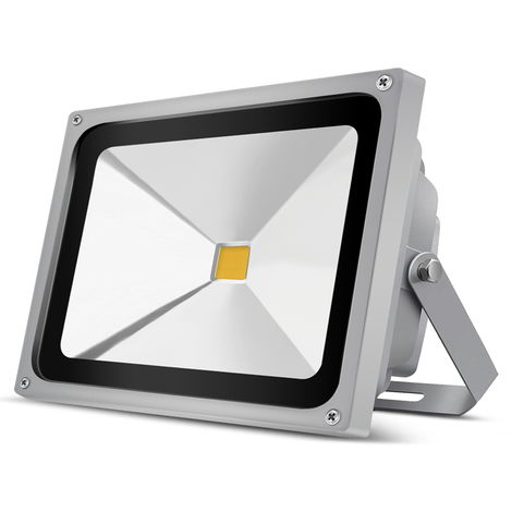 50W 5000LM IP65 COB Warm White LED Floodlight Outdoor Security Lighting High Power Spotlight