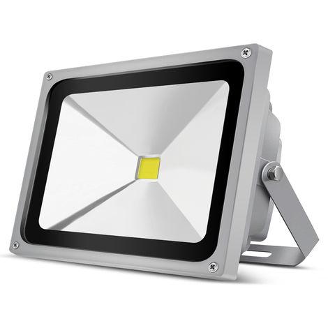 50W 5000LM IP65 COB White LED Floodlight Outdoor Security Lighting High Power Spotlight