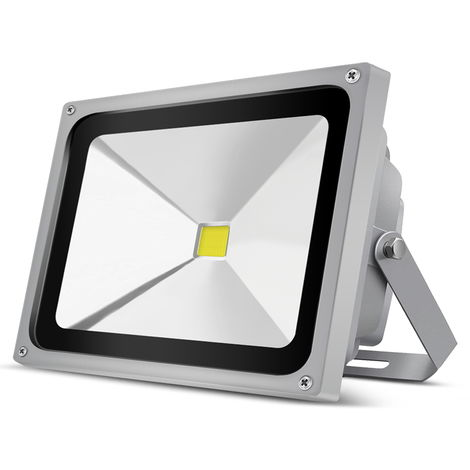 50W Foco Led Exterior 6000K SMD2835 4800LM IP65 Exterior Blanco Frío Impermeable Foco Proyector Led, Estuche Gris
