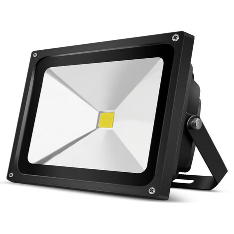 50W Foco Led Exterior 6000K SMD2835 4800LM IP65 Exterior Blanco Frío Impermeable Foco Proyector Led, Estuche Negro