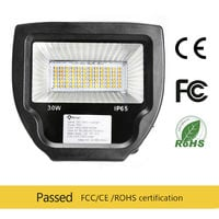 50W Foco Led Exterior Blanco Cálido, SMD2835 2500LM IP65 Impermeable Proyector Led Exterior