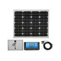 50w Mono-Crystalline Solar Panel PV Photo-voltaic with charging kit