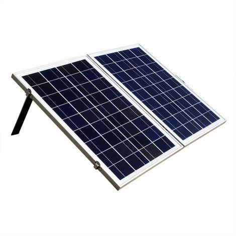 50w Portable Powered Fold Poly Photovoltaic 12v Solar