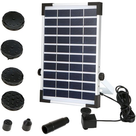 5.0W Solar Water Pump Fountain Garden Mini Floating Fountain Outdoor Pool Bird Feeder