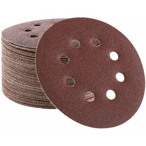50x Arebos Disco de Lijadora Papel de Lija Disco de Lija 125 mm P100