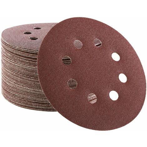 50x Arebos Disco de Lijadora Papel de Lija Disco de Lija 125 mm P120 - marrón