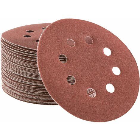 50x Arebos Disco de Lijadora Papel de Lija Disco de Lija 125 mm P220
