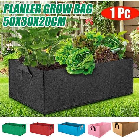 50X30X20cm jardin plantation cultiver sacs tissu pomme de terre tomate planteur extérieur légumes Pots noir noir 1 PCS