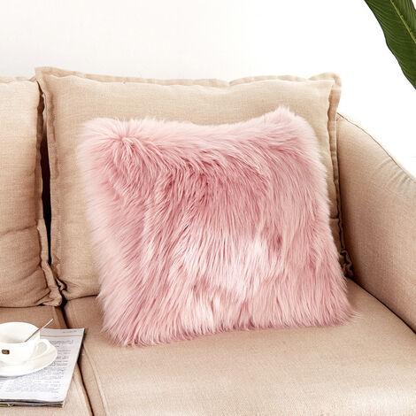 50x50CM Fluffy Faux Fur Plush Pillow Case Cover Shaggy Cushion Cover