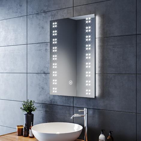 50x70 cm 14w miroir de salle de bains avec clairage led. Black Bedroom Furniture Sets. Home Design Ideas