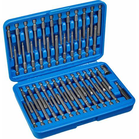 51-Piece Long Bit Set - socket set, torx, tools - blue