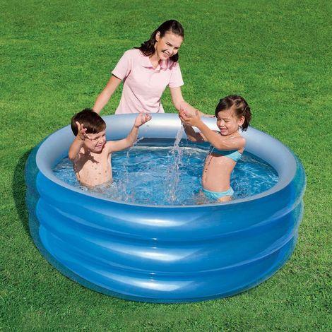 51041 Piscina gonfiabile Bestway 3 anelli 150 x 53 cm metallica blu