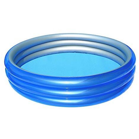 51044 Piscina gonfiabile Bestway 3 anelli 249 x 53 cm metallica blu
