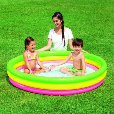 51103 Piscina inflable Bestway efecto nube 3 anillos 152 x 30 cm