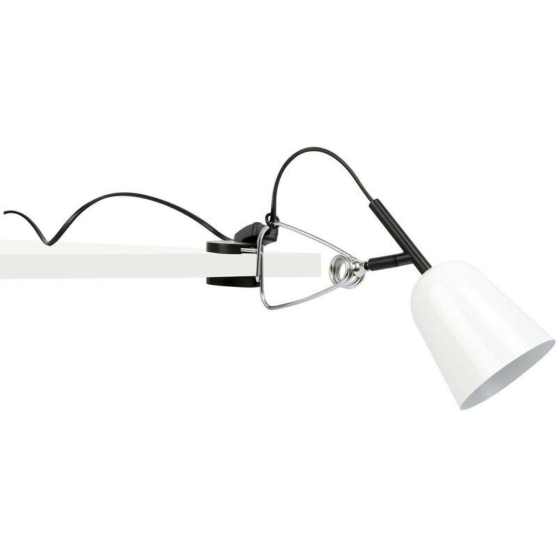 Faro studio lampada clip grigia e bianca