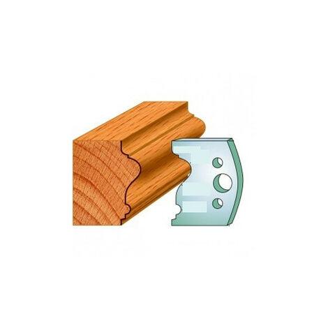 512 : Jeu de fers moulure baguette ( 50 x 4 mm ) porte outils toupie
