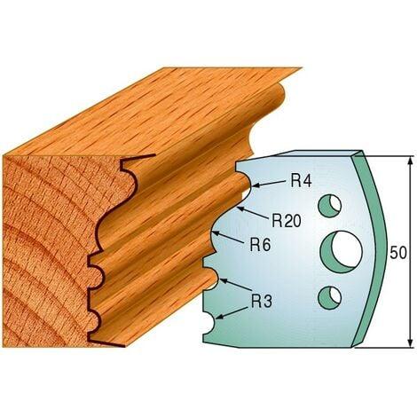 513 : Jeu de fers moulure ( 50 x 4 mm ) porte outils toupie