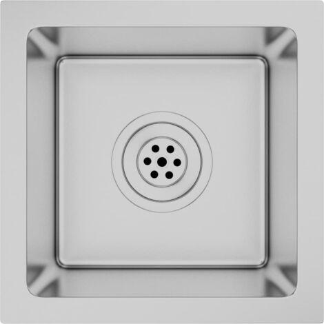 "main image of ""51498 vidaXL Handmade Kitchen Sink Stainless Steel - Silver"""