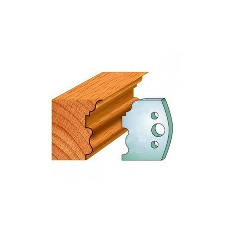 515 : Jeu de fers moulure ( 50 x 4 mm ) porte outils toupie