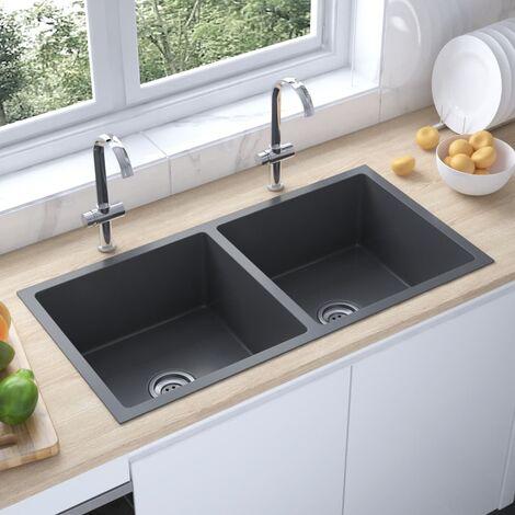"main image of ""51523 Handmade Kitchen Sink Black Stainless Steel34813-Serial number"""