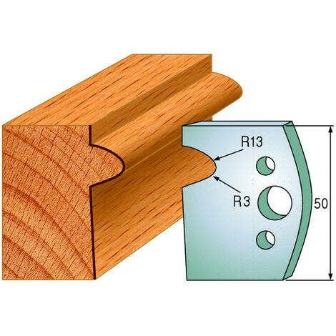 516 : Jeu de fers moulure ( 50 x 4 mm ) porte outils toupie