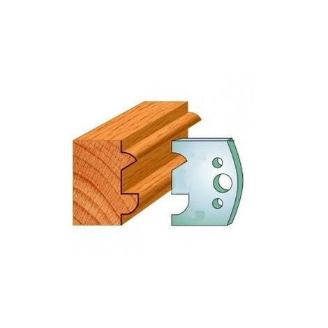 517 : Jeu de fers moulure ( 50 x 4 mm ) porte outils toupie