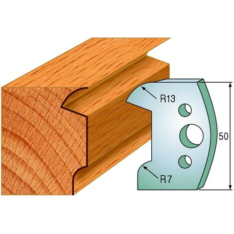 518 : Jeu de fers moulure ( 50 x 4 mm ) porte outils toupie