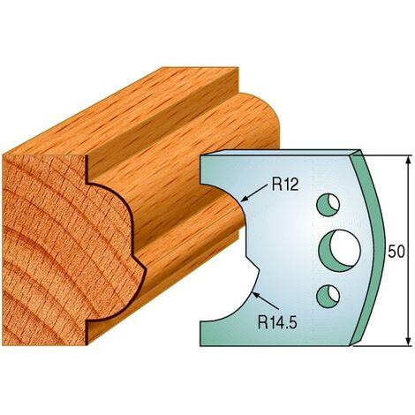 519 : Jeu de fers moulure ( 50 x 4 mm ) porte outils toupie