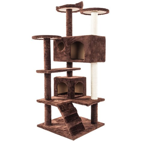 "52"" Pet Cat Tree Play Tower Bed Furniture Scratch Post Tunnel Toy Mouse Pet Kitty Play House - Different colours"