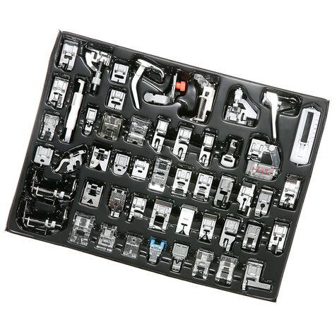 52 piezas, kit de pies prensatelas para maquina de coser, para maquina de coser de vastago bajo