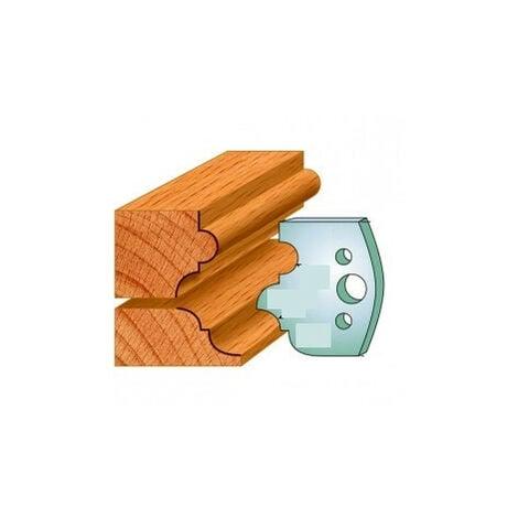 520 : Jeu de fers multi moulures ( 50 x 4 mm ) porte outils toupie