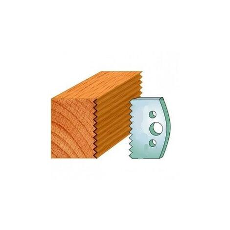 524 : Jeu de fers enture 5 mm ( 50 x 4 mm ) porte outils toupie