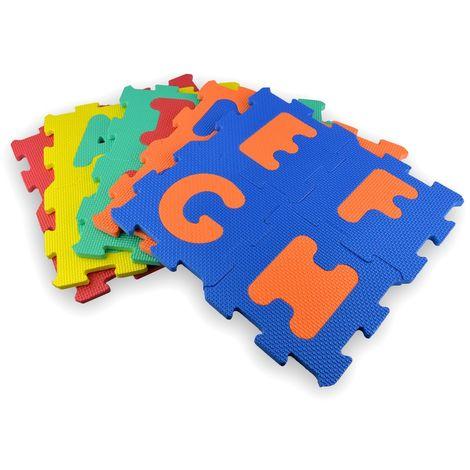529057 Puzzle de goma Eva 20 piezas letras y números modulares de 15 x 15 cm