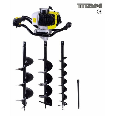 """main image of """"52cc Petrol Earth Auger Ground Drill Fence Post Hole Borer + 3 Bits + Extension"""""""