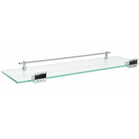 52cm bathroom tub shower glass shelf rack caddy wall bracket LAVENTE