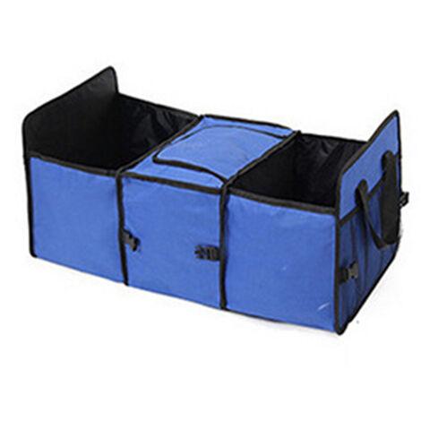 "main image of ""52L Foldable Car Trunk Boot Organizer Collapsible Bag Storage Pocket Case Holder"""