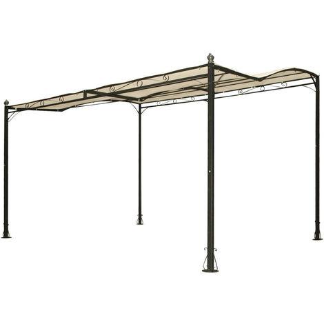 531857 - Pergola patio gazebo in acciaio appoggio a parete 300x250cm