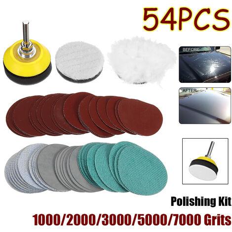 54 pièces 1000-7000 grains ponceuse disque pon?age 1000/2000/3000/5000/7000