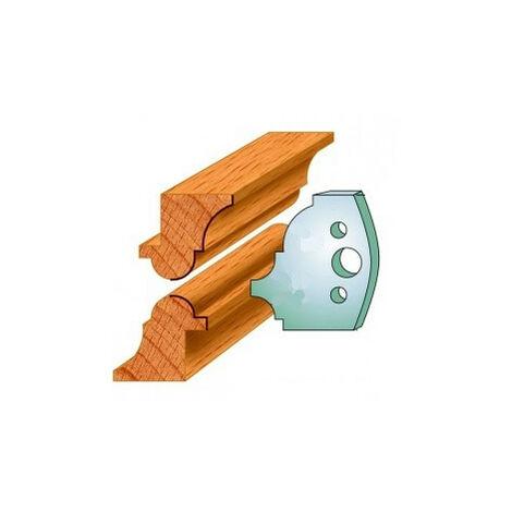 541 : Jeu de fers baguettes ( 50 x 4 mm ) porte outils toupie
