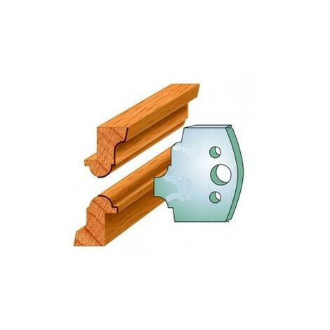 542 : Jeu de fers baguettes ( 50 x 4 mm ) porte outils toupie