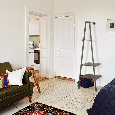 """main image of """"5439 Penderie-vestiaire design industriel , 2 étagères, 3 crochets, rangement, avec structure en métal, pour salon, cuisine, vert"""""""