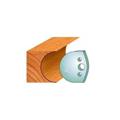 545 : Jeu de fers congé R = 35 mm ( 50 x 4 mm ) porte outils toupie