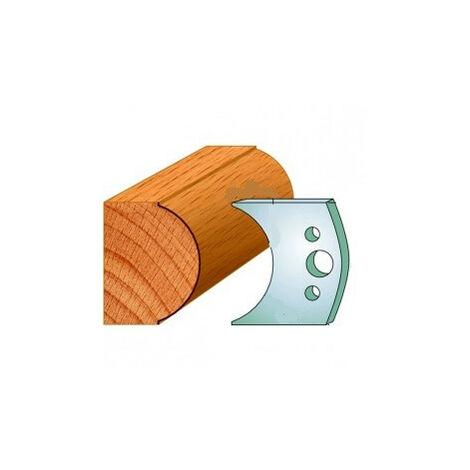 547 : Jeu de fers demi rond R = 30 mm ( 50 x 4 mm ) porte outils toupie