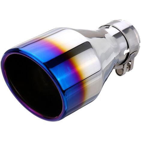 54mm-102mm bleu acier inoxydable voiture silencieux d'échappement arrière embout tuyau d'extrémité universel 【bleu】 (bleu, 54-102mm)