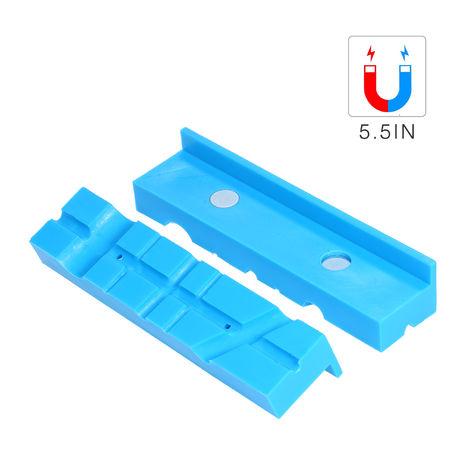 5,5 in Vise Jaws fresado mordaza de tornillo con abrazaderas de nylon magnetica Vise Pad para montaje de tubos Accesorios Maquina
